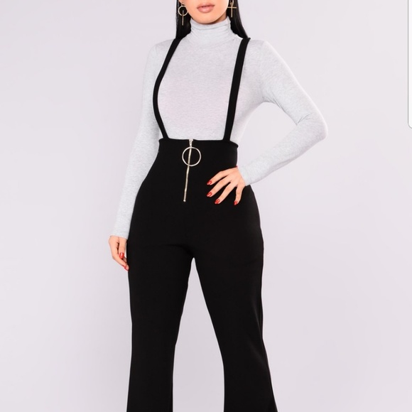 Fashion Nova Pants - Fashion Nova Suspender Jumpsuit